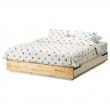 MANDAL Armazón de cama queen + almacenaje