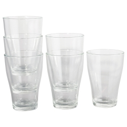 BEHÄNDIG Vaso vidrio 10 oz, 6 unds.