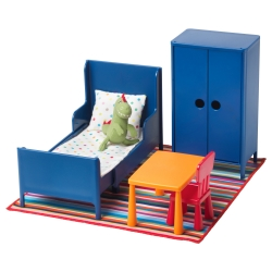 HUSET Mobiliario muñecas dormitorio