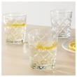 FLIMRA Vaso de vidrio relieve, 28cl