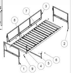 1 x BOMSUND Estructura sofá 3