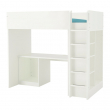 STUVA Loft bed frame w desk and storage