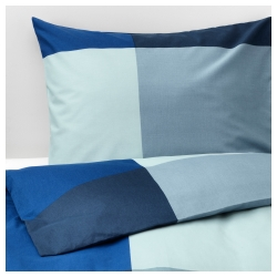 BRUNKRISSLA Quilt funda King and pillowcases