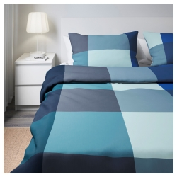 BRUNKRISSLA Quilt cover King and pillowcases