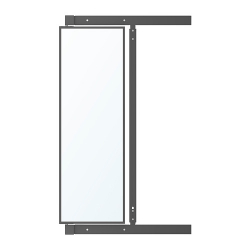 KOMPLEMENT Pull-out mirror with hooks