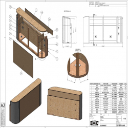 2 x LIDHULT Estructura reposabrazos