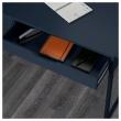 ALEX Escritorio 131x60 cm con gavetas azul