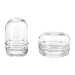 SAMMANHANG Domo de vidrio con base, juego de 2