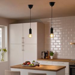 MARKFROST Cable para lámpara de techo negro E27