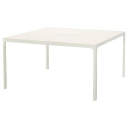 BEKANT Mesa de reuniones 140x140 cm cuadrada blanco