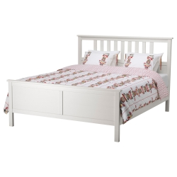 HEMNES Queen bed frame with Luröy slatted