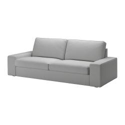 KIVIK Sofá 3 plazas con funda ORRSTA gris claro