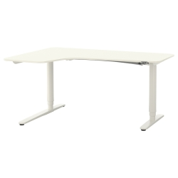 BEKANT Corner desk left sit/stand