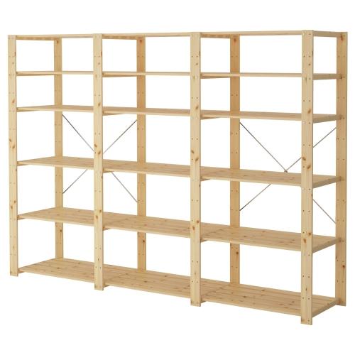 Terrific Hejne 3 Sections Shelves Beutiful Home Inspiration Semekurdistantinfo