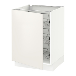 SEKTION Base cabinet with wire baskets