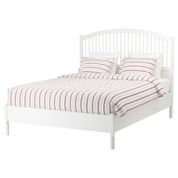 TYSSEDAL Full bed, frame and LURÖY slatted bed base