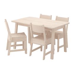 NORRÅKER Mesa con 4 sillas