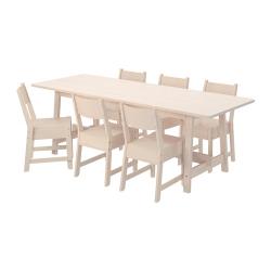 NORRÅKER Mesa y 6 sillas