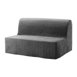 LYCKSELE LÖVÅS Sofá cama 2 plazas, VALLARUM gris