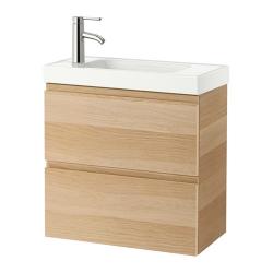 GODMORGON Armario lavabo 2 caj 60cm (sin grifo)