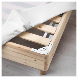ESPEVÄR Base para colchón 160 con patas BJORLI 20cm, funda blanca