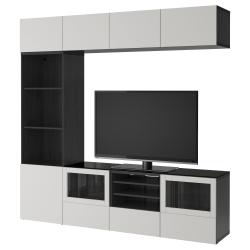 BESTÅ Comb almacenaje TV/puertas vidrio