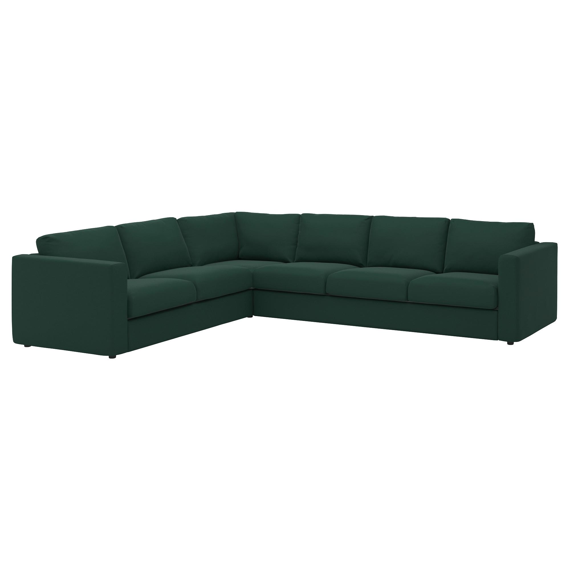 Vimle Sofa 5 Plazas Esquina Gunnared Verde Oscuro
