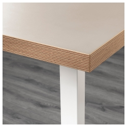LINNMON/GODVIN Mesa de escritorio 150x75 cm beige/blanco