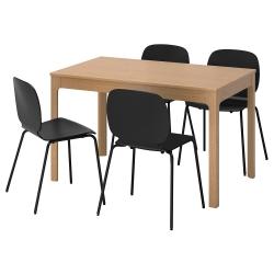 EKEDALEN/SVENBERTIL Mesa con 4 sillas