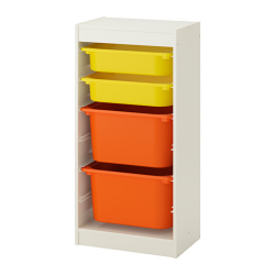 TROFAST Storage combination with boxes