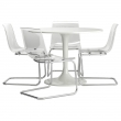 DOCKSTA/TOBIAS Table and 4 chairs