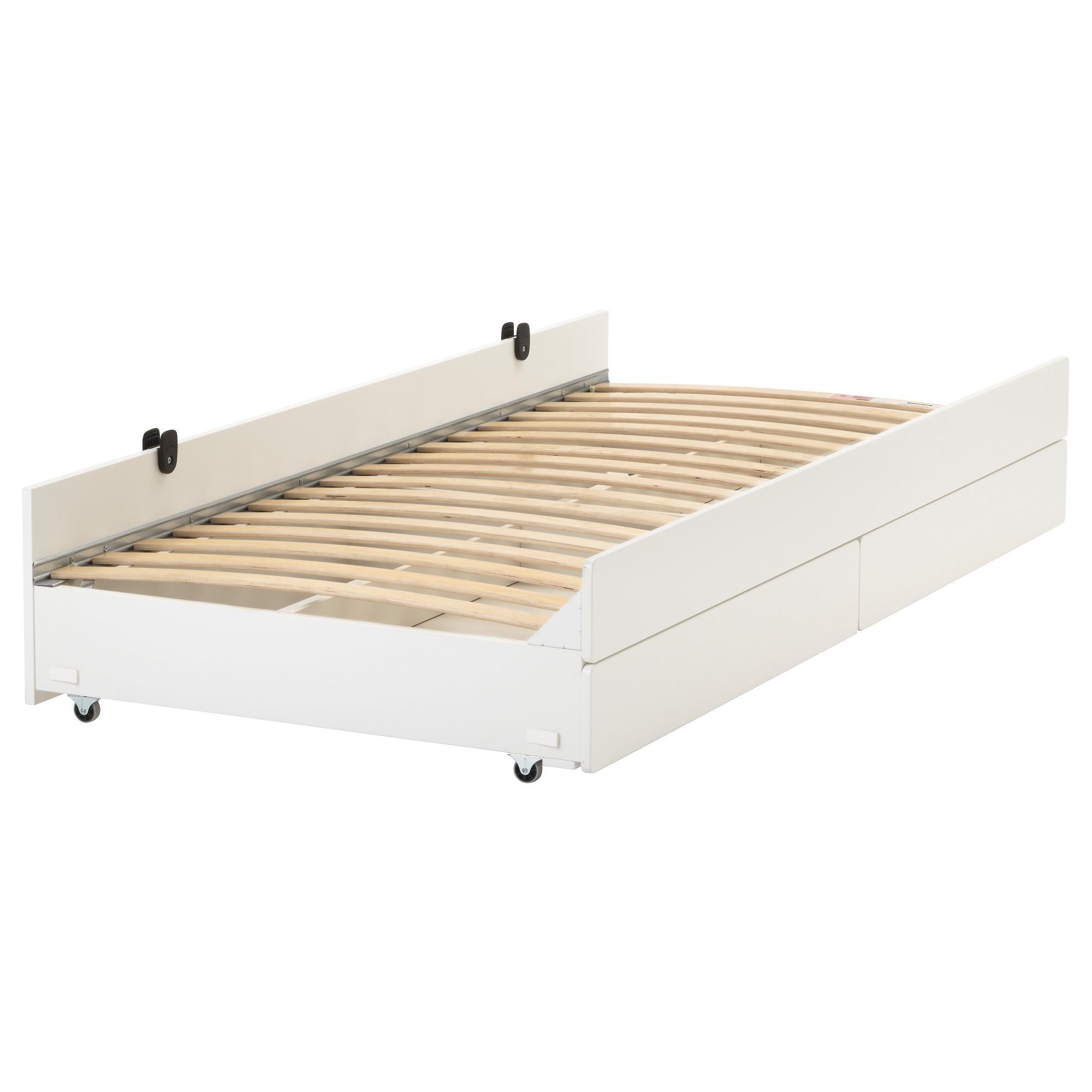 SLÄKT cama inferior con almacenaje + somier LURÖY