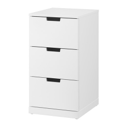 NORDLI Chest of 3 drawers
