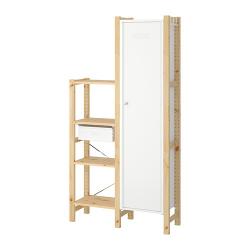 IVAR Estructura almacenaje 92x30x179 cm dos secciones con cajón, estantes y armario
