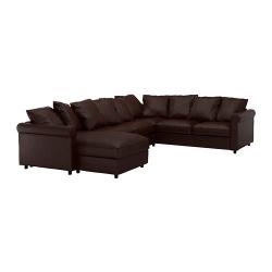 GRÖNLID Sofá de esquina, 5 plazas con diván