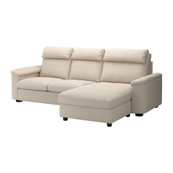 LIDHULT Sofá 3 plazas con diván