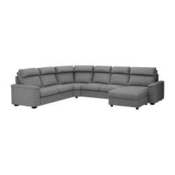 LIDHULT Sofá de esquina, 6 plazas con diván