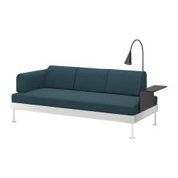 DELAKTIG Sofá 3 plazas+mesa auxiliar+lámpara