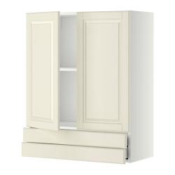 METOD Armario de pared puertas y cajones