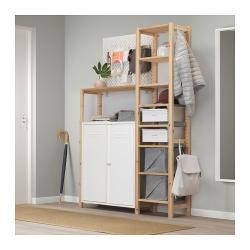 IVAR Estructura almacenaje 134x30x179 cm dos secciones con cajones, estantes y armario