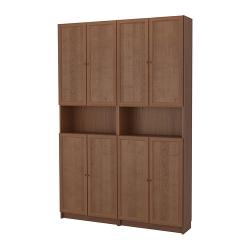 BILLY/OXBERG Librero/módulo exten altura/puertas
