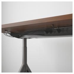 IDÅSEN Escritorio profesional 160x80 cm marrón/gris