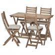 ASKHOLMEN Mesa+4 sillas plegables, exterior