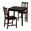 LERHAMN/STEFAN Mesa y dos sillas
