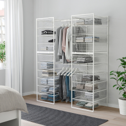 JONAXEL Estructura organización 142x51x173 cm con cestos y barras