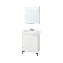 SILVERÅN/HAMNVIKEN Bathroom furniture, set of 5