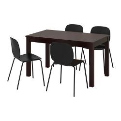 LANEBERG/SVENBERTIL Mesa con 4 sillas