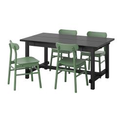 NORDVIKEN/RÖNNINGE Mesa con 4 sillas