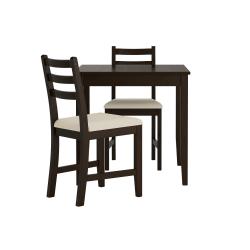 LERHAMN Mesa y 2 sillas