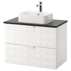 GODMORGON/TOLKEN/HÖRVIK Arm, encm+lavamanos 17 3/4x12 2/8